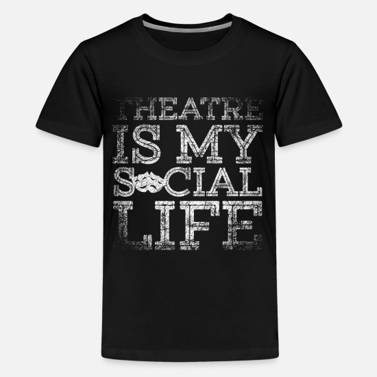 Shakespeare T-Shirts - Theatre Drama Theatre play Tragedy Performance - Kids' Premium T-Shirt black