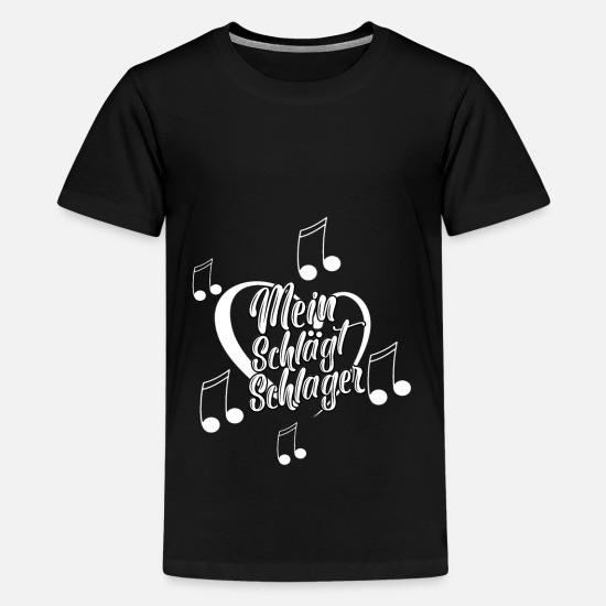 Queen T-Shirts - My heart beats hit - Kids' Premium T-Shirt black