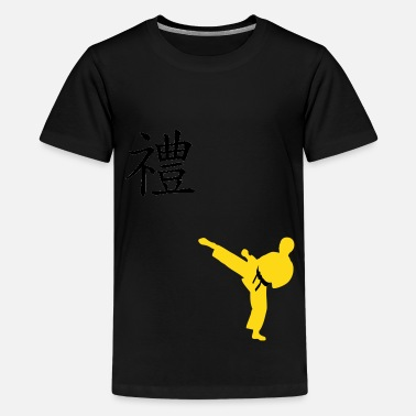 Taekwondo Apparel Meaning of Martial Arts: Courtesy Boys T shirt in - Kids' Premium T-Shirt