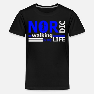 Nordic Walking Nordic Walker Fitness Gift Idea - Kids' Premium T-Shirt