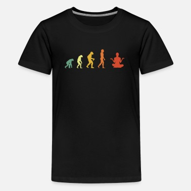 Ruminants Distressed Meditation Evolution - Kids' Premium T-Shirt