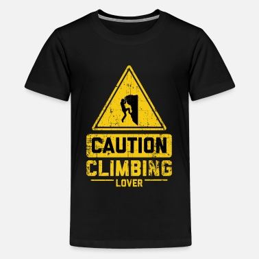 Klettern CAUTION CLIMBING LOVER - Kids' Premium T-Shirt