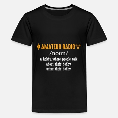 Cable Car Husband Hobby Amateur Radio Operator Definition - Kids' Premium T-Shirt
