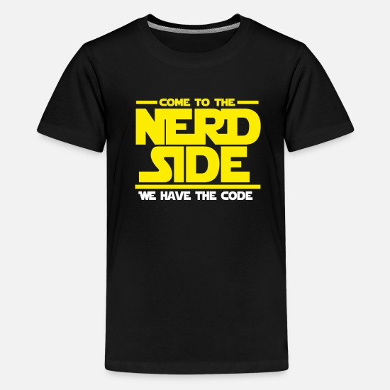 Coder T-Shirts - Code programmers Nerd Dark Side gifts - Kids' Premium T-Shirt black