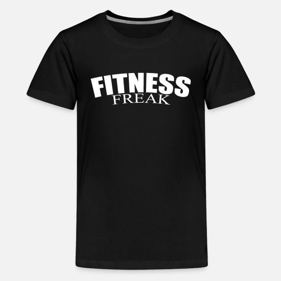 Heavyweight T-Shirts - Fitness Freak - Kids' Premium T-Shirt black