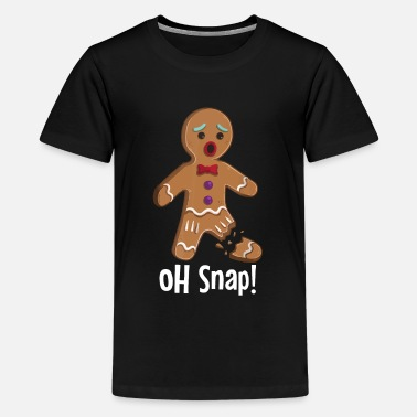 Man Gingerbread Man - Oh Snap Funny Cute Christmas - Kids' Premium T-Shirt