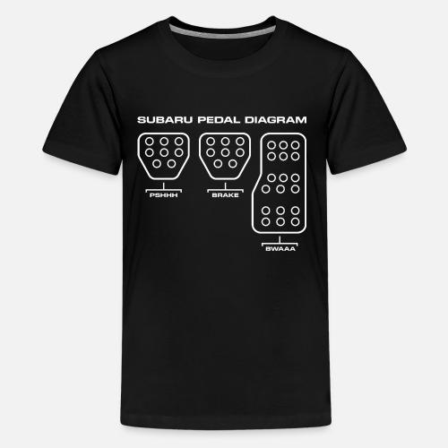 Subaru Pedal Diagram By Cyintia Perru Spreadshirt