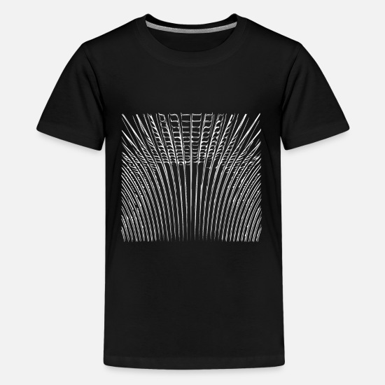 Hipster T-Shirts - Geometric wave patterns unique & unusual - Kids' Premium T-Shirt black