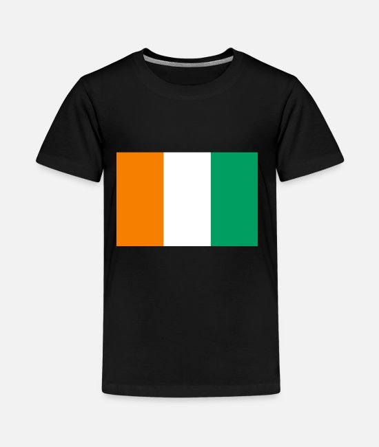 National T-Shirts - Cote d'Ivoire country flag love my land patriot - Kids' Premium T-Shirt black