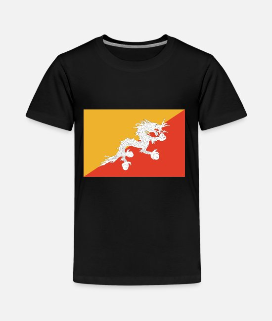 Bhutan T-Shirts - Bhutan country flag love my land patriot - Kids' Premium T-Shirt black