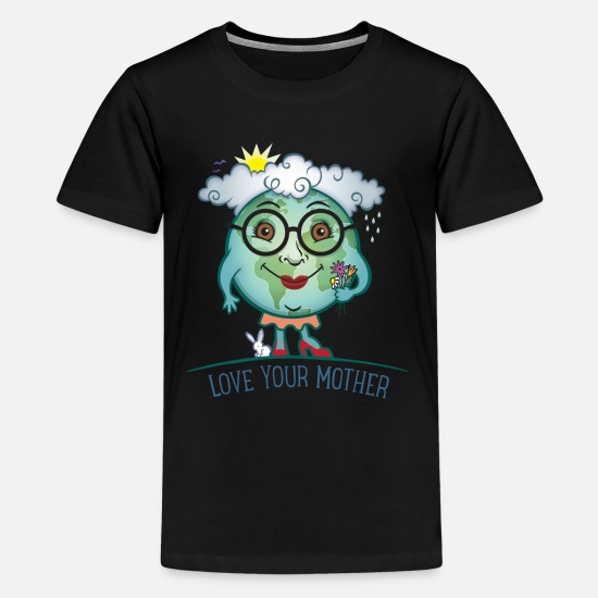 Earth T-Shirts - Love Mother Earth - Kids' Premium T-Shirt black