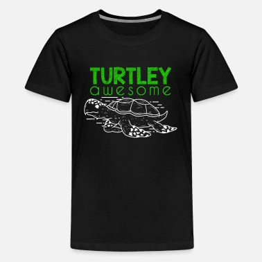 Father Son Turtley Awesome Sea Turtle Ocean Animal Lover Gift - Kids' Premium T-Shirt