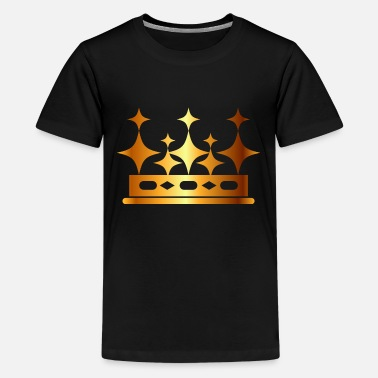 Vip Monarch goden crown king logo vector image - Kids' Premium T-Shirt