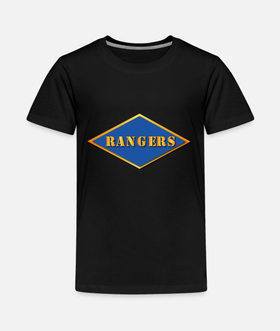 II T-Shirts - Ranger Diamond - WWII - Kids' Premium T-Shirt black