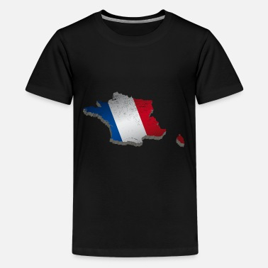France Map National Vintage Style worn - Kids' Premium T-Shirt
