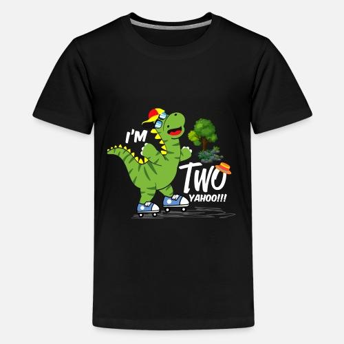 Kids Premium T ShirtDinosaur Birthday 2nd Boy Shirt