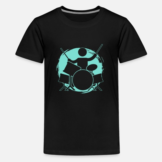 Drummer T-Shirts - Drums - Kids' Premium T-Shirt black