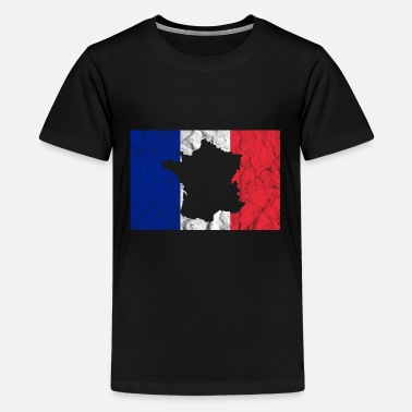 France French Flag Map Silhouette Travel Europe - Kids' Premium T-Shirt