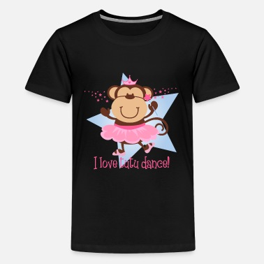 I Love Dance Monkey Love Tutu Dance - Kids' Premium T-Shirt