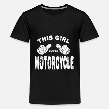 Race Motorcycle Biker girl woman - Kids' Premium T-Shirt