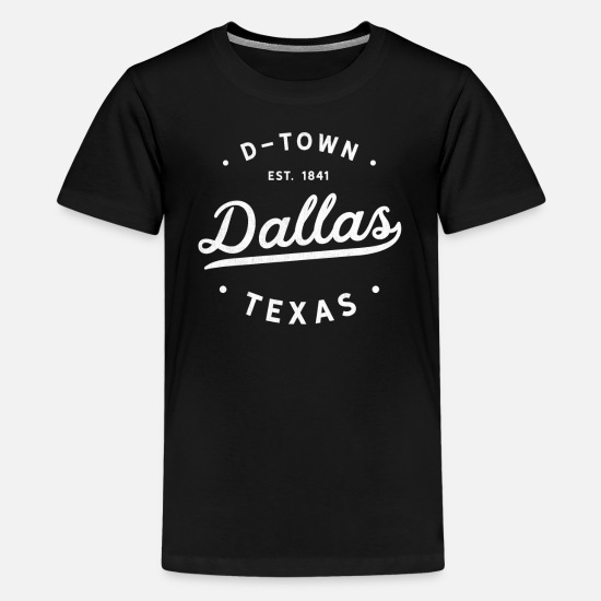 Dallas T-Shirts - Classic Dallas Texas Vintage Retro Est 1841 USA - Kids' Premium T-Shirt black