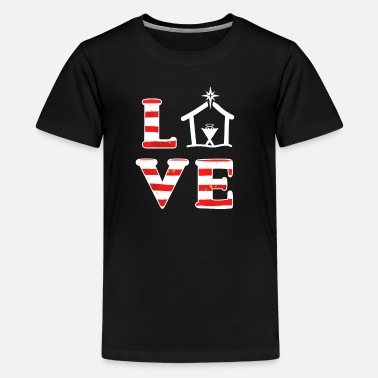 Jesus Christian Christmas Quote Love Jesus Birth Manger - Kids' Premium T-Shirt