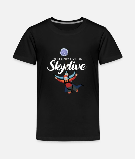 Skydiving T-Shirts - Skydiving - Kids' Premium T-Shirt black