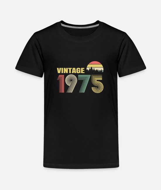 1975 T-Shirts - Vintage 1975 Birthday Gift Idea - Kids' Premium T-Shirt black