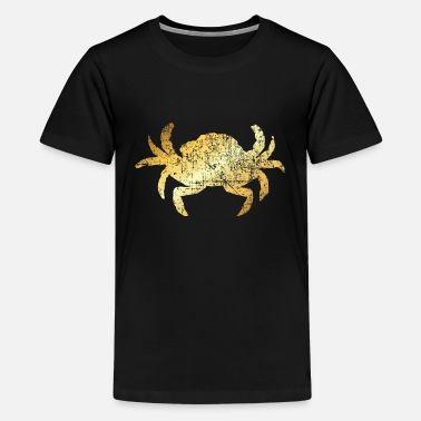 Crab A Crab for Seafood Lovers (Vintage Gold) - Kids' Premium T-Shirt