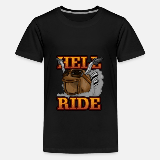 Naked T-Shirts - Cool motorcycle - Kids' Premium T-Shirt black
