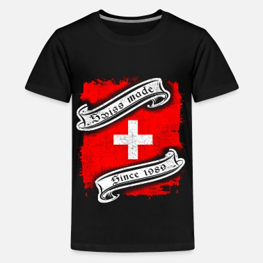 Switzerland Swiss Suisse Swiss flag 1989 30th Birthday gift - Kids' Premium T-Shirt
