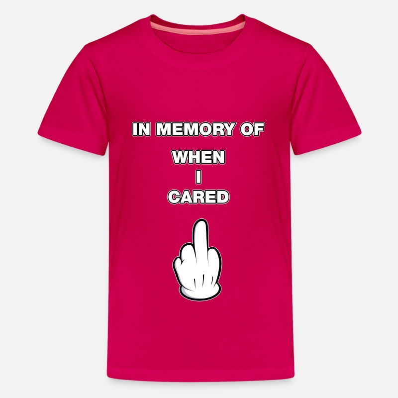 803d344e8 in memory of when I cared middle finger comic Kids' Premium T-Shirt |  Spreadshirt