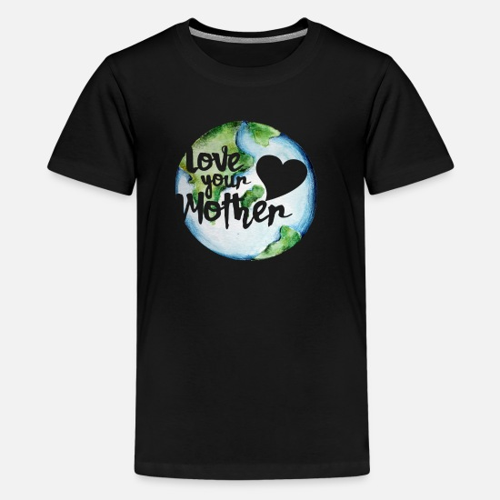 Planet T-Shirts - Love your mother earth day - Kids' Premium T-Shirt black