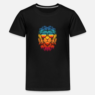 COOL LION WITH GLASSES GIFT IDEA - Kids' Premium T-Shirt
