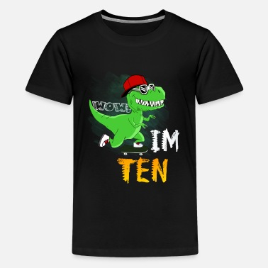 Dinosaur Dinosaur/T Rex/10th Birthday Boy shirt - Kids' Premium T-Shirt