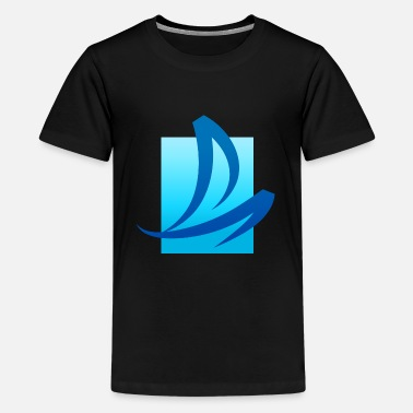 Verão Summer - Wave - Design - Water - Vacation - Kids' Premium T-Shirt