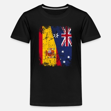 Spanish AUSTRALIA SPAIN FLAG - Half Spanish - Kids' Premium T-Shirt
