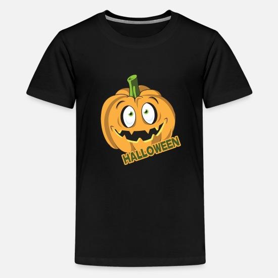 Custom Made T Shirt Happy Halloween Jack-O-Lantern Pumpkins Bats Creepy Fun