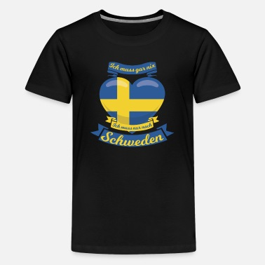 Holidaymaker Sweden Gift Idea Heart - Kids' Premium T-Shirt