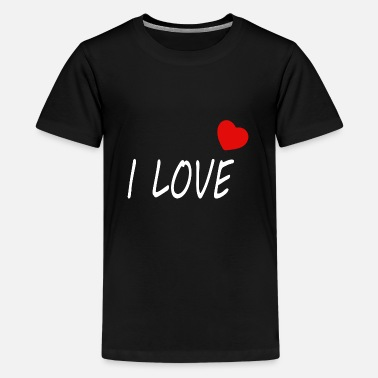 Red Heart i love - with heart - Kids' Premium T-Shirt