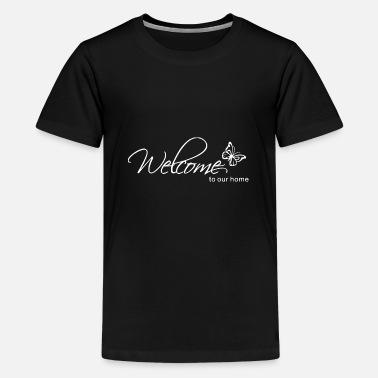 Curves Welcome to our home - Butterfly - Kids' Premium T-Shirt