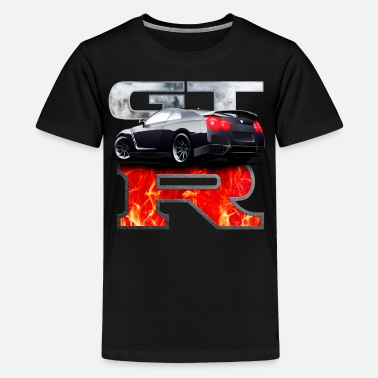 Nissan GTR In flames - Kids' Premium T-Shirt