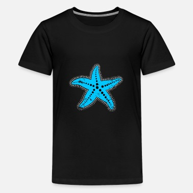 blue Starfish christmas gift kids drawing - Kids' Premium T-Shirt