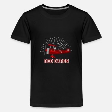 Ww1 Red Baron WW1 Pilot German Fighter Airplane Gift - Kids' Premium T-Shirt
