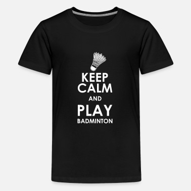 I Love Keep calm play badminton - Kids' Premium T-Shirt