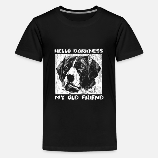Blind T-Shirts - Hello Darkness my old friend - Kids' Premium T-Shirt black