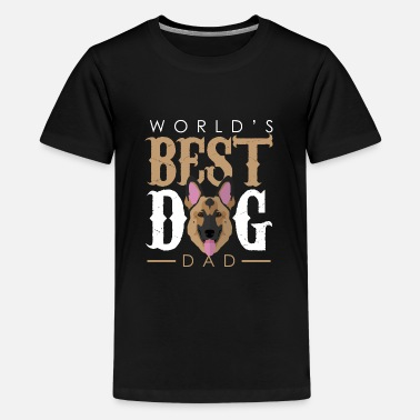 Dogowner World's Best Dog Dad - German Shepherd - Kids' Premium T-Shirt