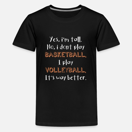 Practice T-Shirts - Volleyball - Kids' Premium T-Shirt black