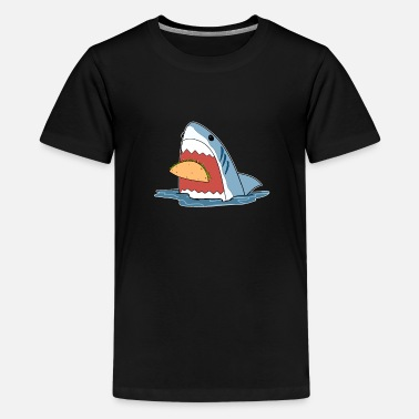 Bold Bold Graphic Taco Shark Mexican Food - Kids' Premium T-Shirt