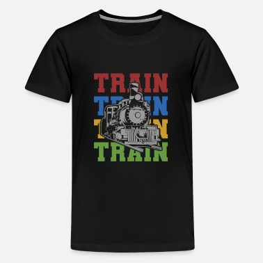 Model Train Trains Model Railroad Railway Gift - Kids' Premium T-Shirt